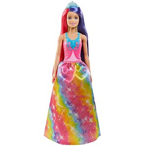 ​Barbie™ Dreamtopia Princess Doll (11.5-inch) with Extra-Long Two-Tone Fantasy Hair, Hairbrush, Tiaras and Styling Accessories