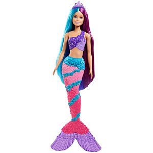 ​Barbie™ Dreamtopia Mermaid Doll (13-inch) with Extra-Long Two-Tone Fantasy Hair, Hairbrush, Tiaras and Styling Accessories