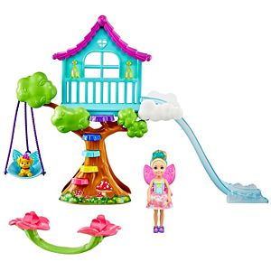 ​Barbie™ Dreamtopia Chelsea™ Fairy Doll and Fairytale Treehouse Playset with Seesaw, Swing, Slide, Pet and Accessories