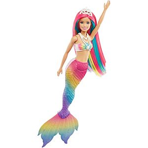 ​Barbie™ Dreamtopia Rainbow Magic™ Mermaid Doll with Rainbow Hair and Water-Activated Color Change Feature