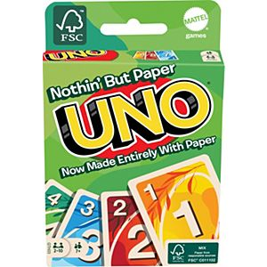 UNO® Nothin' But Paper Family Card Game with 112 Cards for 7 Year Olds & Up