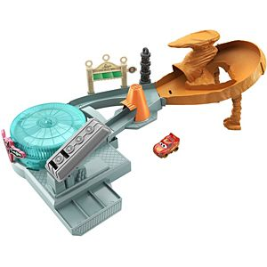 Disney Pixar Cars Mini Racers Radiator Springs Spin Out! Playset