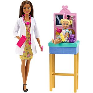 Barbie® Pediatrician Playset, Brunette Doll (12-in)