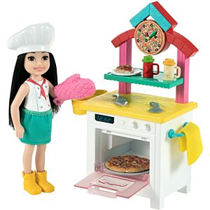 ​Barbie® Chelsea® Can Be Pizza Chef Playset with Brunette Chelsea® Doll (6-in), Pizza Oven, 2 Spice Shakers, Pizza Pan & More