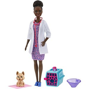 Barbie® Pet Vet Brunette Doll (12-in/30.40-cm) & Playset