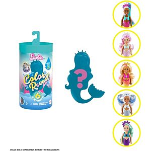 Barbie® Color Reveal™ Chelsea™ Doll Mermaid Series with 6 Surprises