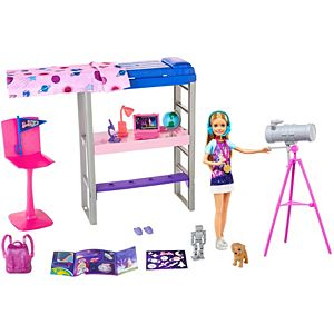 Barbie® Space Discovery™ Stacie™ Doll & Bedroom Playset with Puppy & Expanding Bunk Bed