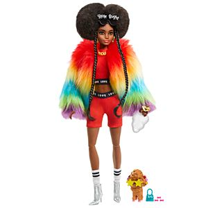 Barbie® Extra Doll #1 in Rainbow Coat with Pet Poodle for Kids 3 Years Old & Up