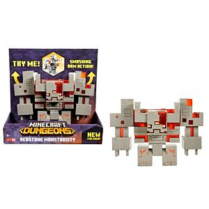 Minecraft Dungeons Redstone Monstrosity Figure