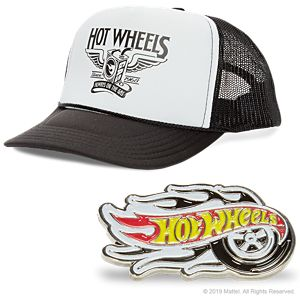 "Hot Wheels ""Gas"" Hat and Metal Pin"