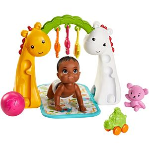 ​Barbie® Skipper™ Babysitters Inc.™ Crawling and Playtime Playset with Baby Doll with Bobbling Head and Bottom, Floor Gym, Blanket and 6 Toy Accessories