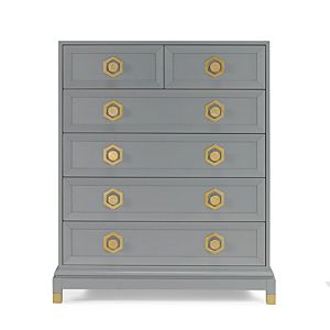 Deluxe 6 Drawer Chest -Grey