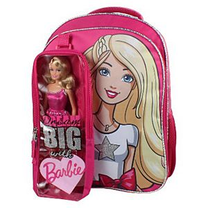 Barbie® 16-Inch Backpack with Bonus Barbie Doll - Pink