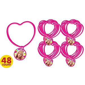 Barbie Heart Charm Bracelets 48ct