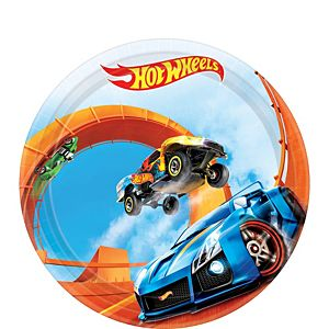 Hot Wheels Dessert Plates 8ct