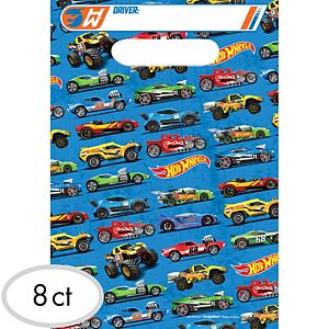 Hot Wheels Favor Bags 8ct