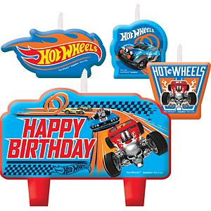 Hot Wheels Birthday Candles 4ct