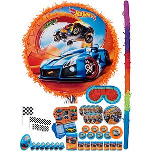 Hot Wheels Orange Pinata Kit with Favors