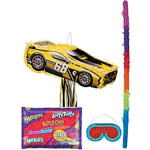Hot Wheels Yellow Race Car Pinata Kit