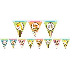 Fisher-Price Jungle Baby Shower Pennant Banner