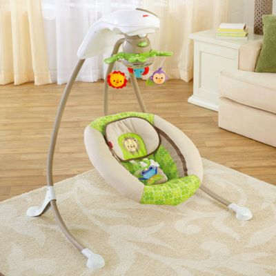 Rainforest Deluxe Cradle N Swing X7340 Fisher Price