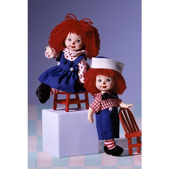 Kelly Doll And Tommy Doll As Raggedy Ann And Andy 24639 Barbie Signature