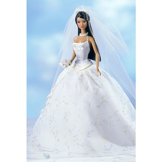 Barbie Wedding Dress.The Bridal Collection Collectible Dolls Barbie Signature
