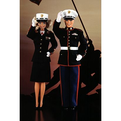 Marine Corps Barbie Doll And Ken Doll Deluxe Set 4704 Barbie