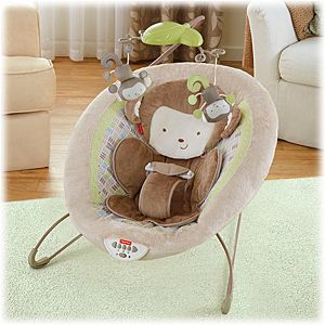 My little snugamonkey deluxe bouncer bgb12 fisher price for Silla fisher price