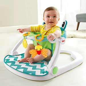 Fisher-Price Sit-Me-Up Floor Seat - Citrus Frog | CMH49 | Fisher-Price