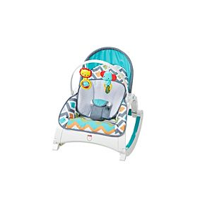 Newborn to toddler rocker glacier wave cmr13 fisher for Silla nido fisher price