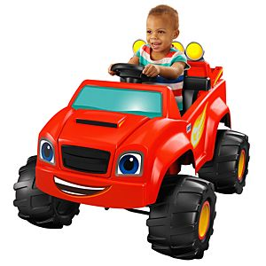 Power wheels nickelodeon blaze monster truck dlx40 for Motorized ride on toys for 5 year olds