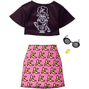 barbie despicable me top banana skirt fashion fkr72 barbie