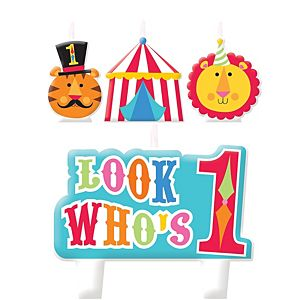 Circus 1st Birthday Candles 4 Count Pc00463 Fisher Price