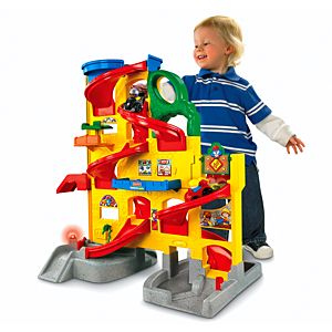 Little people wheelies stand 39 n play rampway w2866 for Little tikes 2 in 1 buildin to learn motor workshop