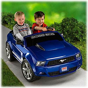 power wheels ford mustang boss 302 blue w9257 fisher price