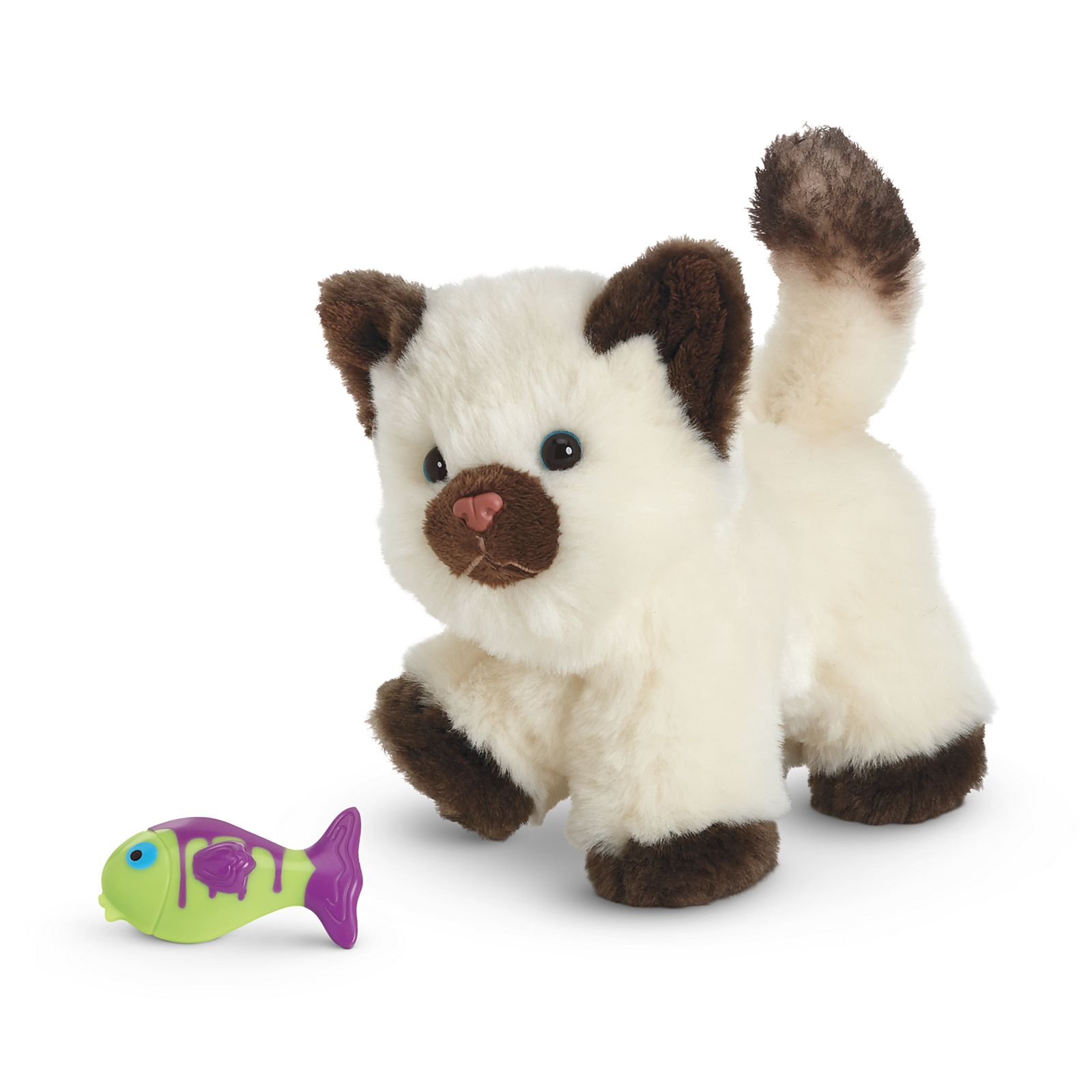 Cat American Girl Doll Himalayan Kitten with Fish Toy Magnetic NEW!