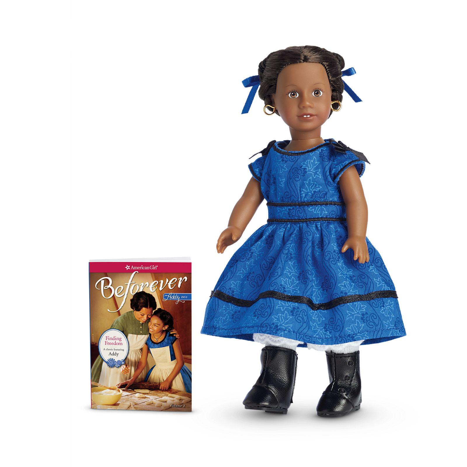 American Girl MINI 6 inch Meet Black Boots~Addy~Historical Clothes
