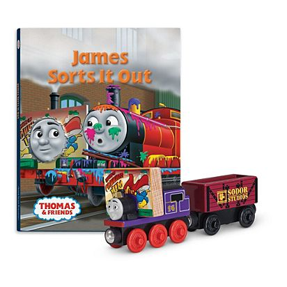 Thomas Friends Wooden Railway James Sorts It Out Book Pack