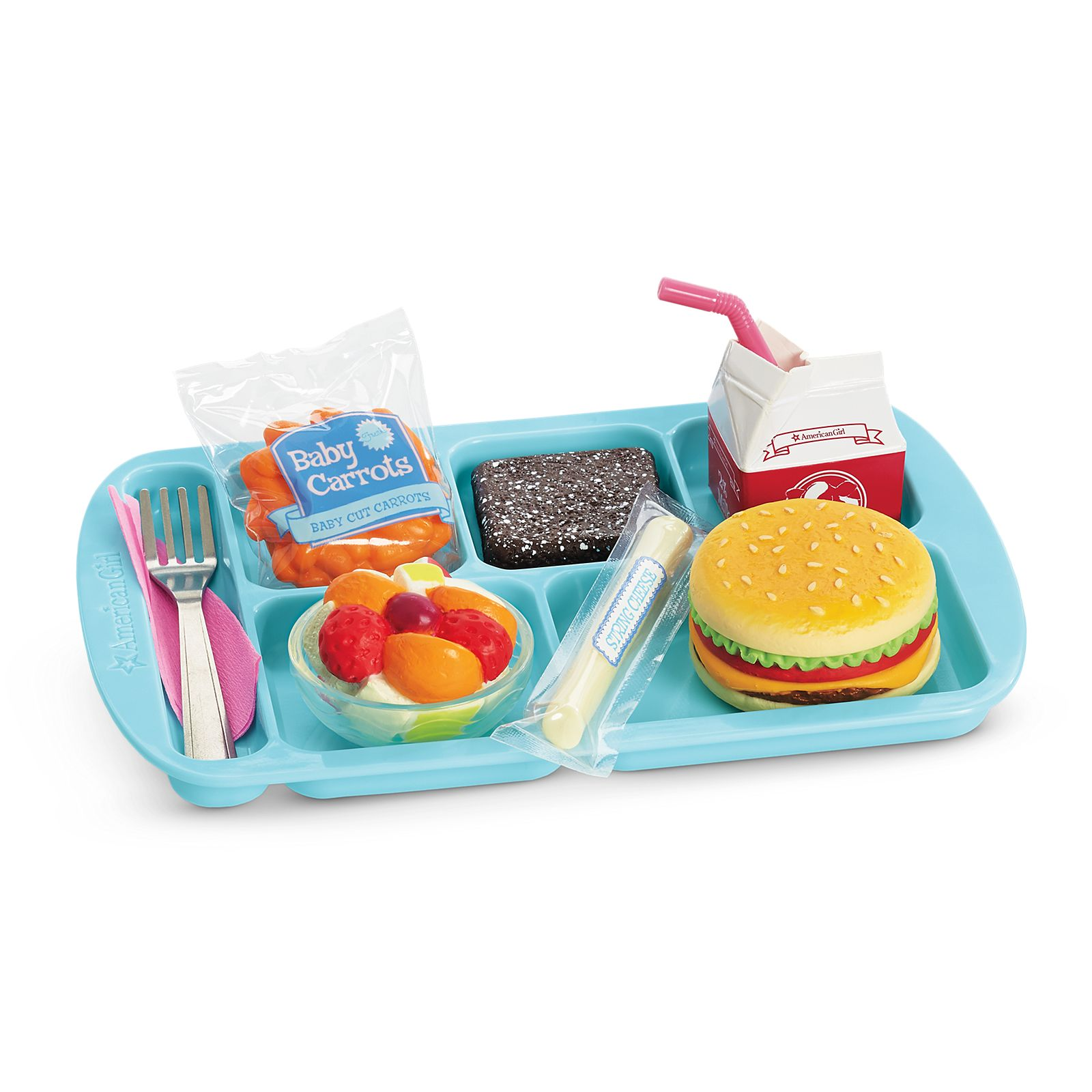 School Lunch Box For 15 and 18 inch American Girl Doll Pretend Play