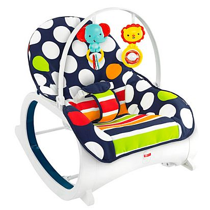 661e67a12ee Image for Infant-to-Toddler Rocker - Navy Dot from Mattel