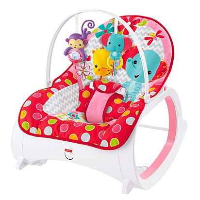 Infant To Toddler Rocker Flowery Chevron Cmr22 Fisher Price