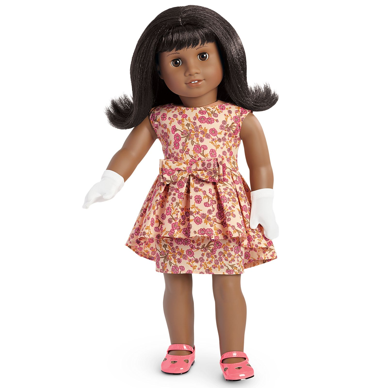 Fit For 18/'/' American Girl Pink Butterfly Flower Party Dress Summer Doll Clothes