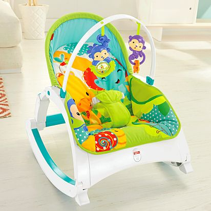 Fisher-price Rainforest New-born Baby Bouncer/rocker/chair With Vibration+toybar Baby Swings
