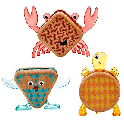 67a15a47da0a5 Image for Wooden Toys Shape-imals™ 3-pack from Mattel