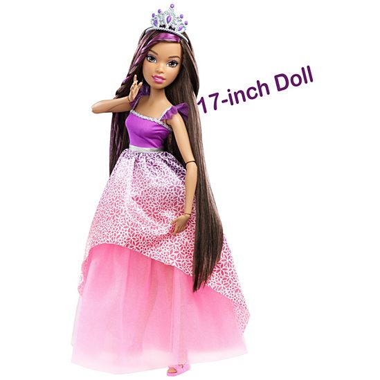 Barbie Princess Doll With Hairstyling Accessories