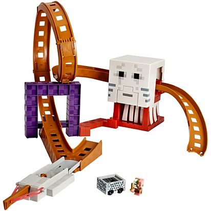 Minecraft Hot Wheels Ghast Attack Track Playset Dpw28 Hot Wheels