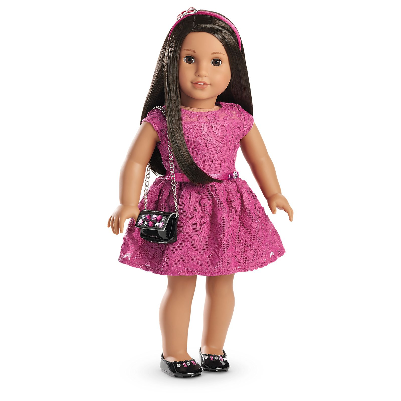 Magenta Lace Easter Dress Made For 18 Inch American Girl Doll Clothes