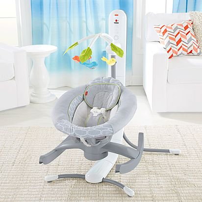 140bc9ed06b 4-in-1 Smart Connect™ Cradle 'n Swing - Techno Gray™