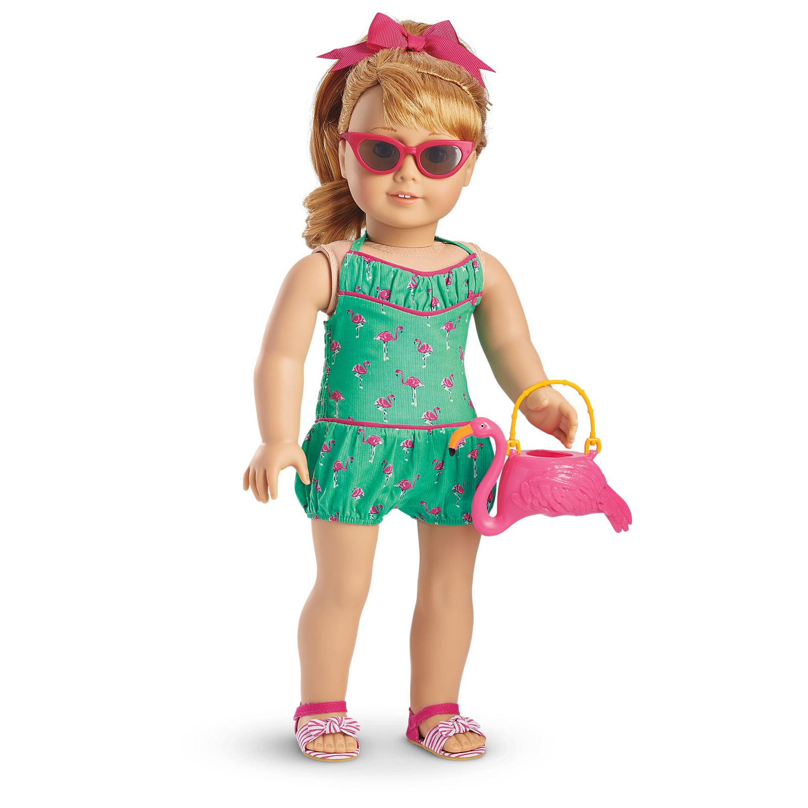 "Flamingos And Bows Short Set Fits 18/"" American Girl Doll Clothes"